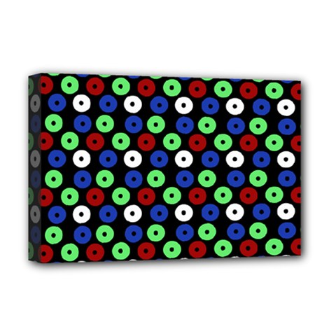 Eye Dots Green Blue Red Deluxe Canvas 18  X 12