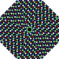 Eye Dots Green Blue Red Hook Handle Umbrellas (medium)