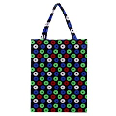 Eye Dots Green Blue Red Classic Tote Bag