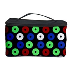 Eye Dots Green Blue Red Cosmetic Storage Case