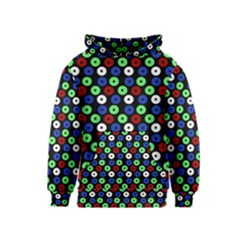 Eye Dots Green Blue Red Kids  Pullover Hoodie