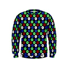Eye Dots Green Blue Red Kids  Sweatshirt
