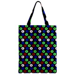 Eye Dots Green Blue Red Zipper Classic Tote Bag