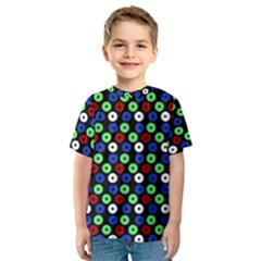 Eye Dots Green Blue Red Kids  Sport Mesh Tee