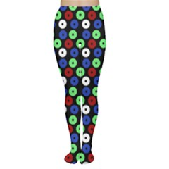 Eye Dots Green Blue Red Women s Tights