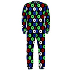 Eye Dots Green Blue Red Onepiece Jumpsuit (men)