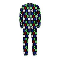 Eye Dots Green Blue Red Onepiece Jumpsuit (kids)