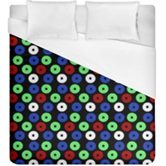 Eye Dots Green Blue Red Duvet Cover (king Size)