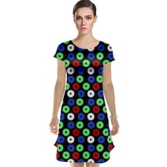 Eye Dots Green Blue Red Cap Sleeve Nightdress