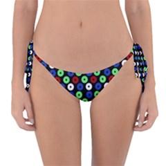 Eye Dots Green Blue Red Reversible Bikini Bottom