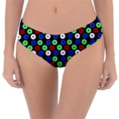 Eye Dots Green Blue Red Reversible Classic Bikini Bottoms