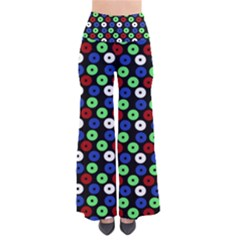 Eye Dots Green Blue Red So Vintage Palazzo Pants