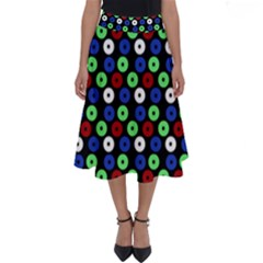 Eye Dots Green Blue Red Perfect Length Midi Skirt
