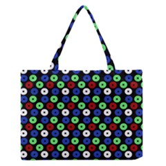 Eye Dots Green Blue Red Zipper Medium Tote Bag