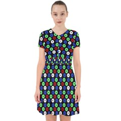 Eye Dots Green Blue Red Adorable In Chiffon Dress