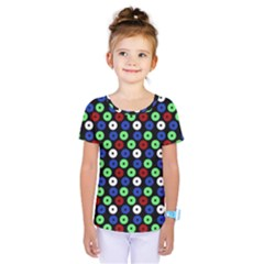 Eye Dots Green Blue Red Kids  One Piece Tee