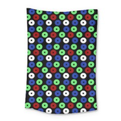 Eye Dots Green Blue Red Small Tapestry