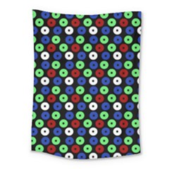 Eye Dots Green Blue Red Medium Tapestry