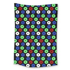 Eye Dots Green Blue Red Large Tapestry