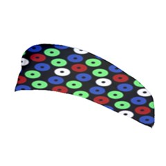 Eye Dots Green Blue Red Stretchable Headband