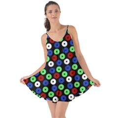 Eye Dots Green Blue Red Love The Sun Cover Up