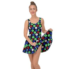 Eye Dots Green Blue Red Inside Out Casual Dress