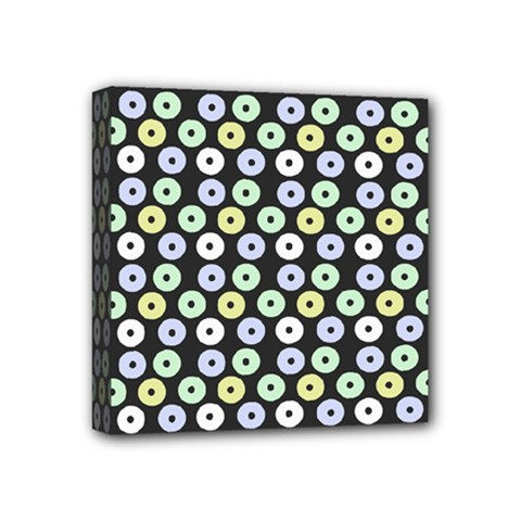 Eye Dots Grey Pastel Mini Canvas 4  X 4