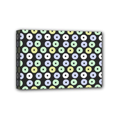 Eye Dots Grey Pastel Mini Canvas 6  X 4