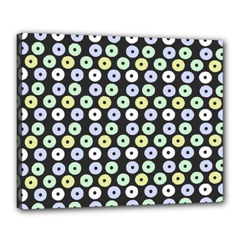 Eye Dots Grey Pastel Canvas 20  X 16