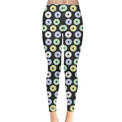 Eye Dots Grey Pastel Leggings