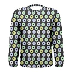 Eye Dots Grey Pastel Men s Long Sleeve Tee