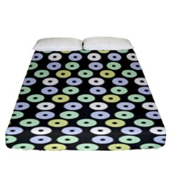 Eye Dots Grey Pastel Fitted Sheet (king Size)