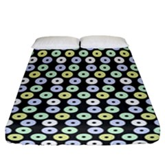 Eye Dots Grey Pastel Fitted Sheet (california King Size)