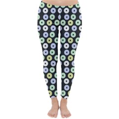 Eye Dots Grey Pastel Classic Winter Leggings