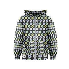 Eye Dots Grey Pastel Kids  Zipper Hoodie
