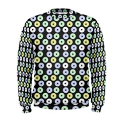 Eye Dots Grey Pastel Men s Sweatshirt