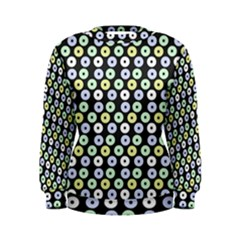 Eye Dots Grey Pastel Women s Sweatshirt