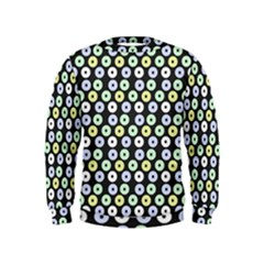 Eye Dots Grey Pastel Kids  Sweatshirt