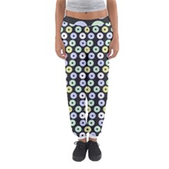 Eye Dots Grey Pastel Women s Jogger Sweatpants