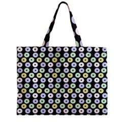 Eye Dots Grey Pastel Zipper Mini Tote Bag