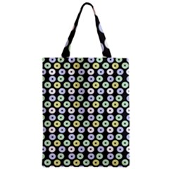 Eye Dots Grey Pastel Zipper Classic Tote Bag