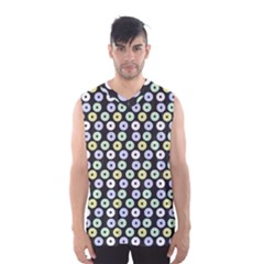 Eye Dots Grey Pastel Men s Basketball Tank Top