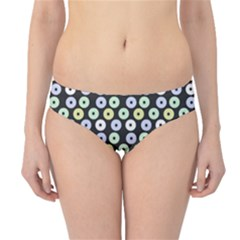 Eye Dots Grey Pastel Hipster Bikini Bottoms