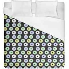 Eye Dots Grey Pastel Duvet Cover (king Size)