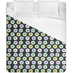 Eye Dots Grey Pastel Duvet Cover (california King Size)