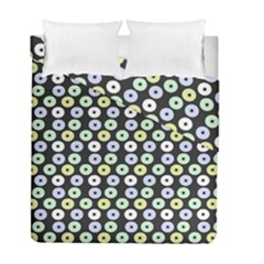 Eye Dots Grey Pastel Duvet Cover Double Side (full/ Double Size)