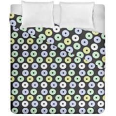 Eye Dots Grey Pastel Duvet Cover Double Side (california King Size)