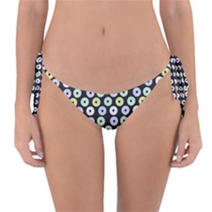 Eye Dots Grey Pastel Reversible Bikini Bottom
