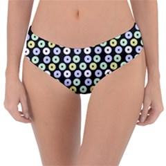 Eye Dots Grey Pastel Reversible Classic Bikini Bottoms