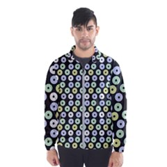 Eye Dots Grey Pastel Wind Breaker (men)